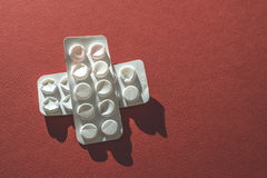 Packs of pills Royalty Free Stock Photography
