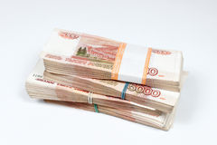 Packs of ruble Stock Images