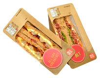 Packs Of Sandwiches Royalty Free Stock Photo