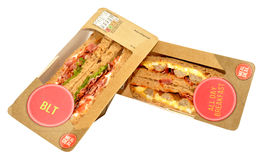 Packs Of Sandwiches Royalty Free Stock Photos