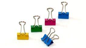 Packshot colored Binder Clip Stock Images