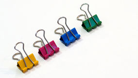 Packshot colored Binder Clip Stock Photo