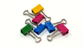 Packshot colored Binder Clip Stock Photography