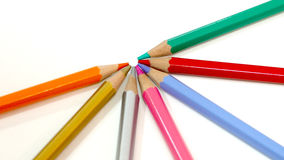 Packshot colored pencils Stock Image