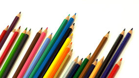 Packshot colored pencils Stock Photos