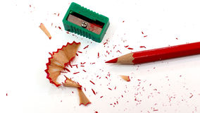 Packshot colored pencils Sharpener Royalty Free Stock Images