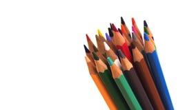 Packshot färgade blyertspennor Arkivfoton