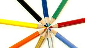 Packshot färgade blyertspennor Arkivbilder
