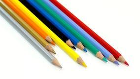 Packshot färgade blyertspennor Fotografering för Bildbyråer