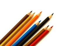 Packshot färgade blyertspennor Arkivfoto