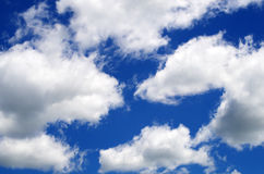 Pacman clouds? Royalty Free Stock Photography