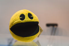 Pacman gadget on display at Games Week 2014 in Milan, Italy Royalty Free Stock Images