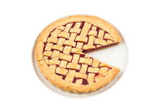 Pacman strawberry  pie on a plate Stock Image