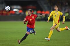 Paco Alcacer. Francisco Paco Alcacer Garcia striker of the Spanish National Football Team, pictured during the friendly match between Romania and Spain, played stock photos