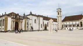 Paco das Escolas en la universidad de Coímbra, Portugal fotos de archivo libres de regalías