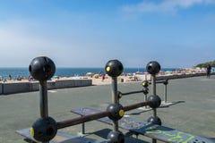 Paco de卡约埃尔考斯海滩在Paco de卡约埃尔考斯,葡萄牙 免版税图库摄影