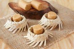 Pacoca - бразильская конфета земного арахиса Стоковое фото RF