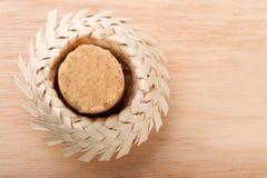 Pacoca - Braziliaans suikergoed van grondpinda Stock Fotografie