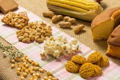 Pacoca, Pe de Moleque, Erdnuss, Popcorn, Plätzchen, Kuchen, Mais: Lebensmittel Stockbild