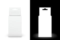Pacote branco do presente Fotos de Stock Royalty Free
