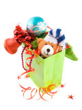 Pacote com presente do Natal imagens de stock