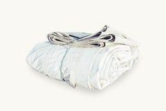 Pacote com uma corda e dobrado Grande objeto do pacote a terminar imagem de stock