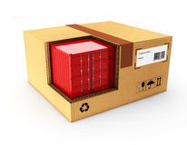 pacote 3d no fundo branco Foto de Stock