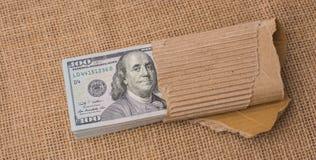 Pacote da cédula de dólar americano Fotografia de Stock Royalty Free