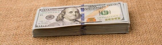 Pacote da cédula de dólar americano Imagens de Stock