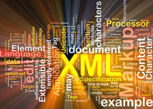 Pacote da caixa da nuvem da palavra de XML Imagem de Stock Royalty Free