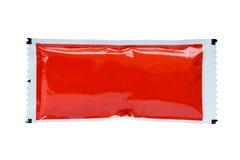 Pacote da ketchup do molho de tomate Imagens de Stock Royalty Free