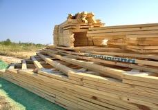 Pacote da madeira serrada Imagens de Stock Royalty Free