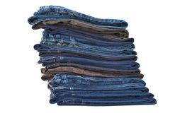 Pacote das calças de brim foto de stock royalty free