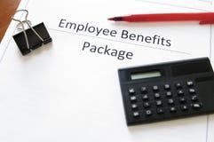 Pacote de benefícios do empregado Imagem de Stock Royalty Free