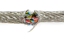 Pacote de cabos da cor Fotografia de Stock