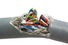 Pacote de cabos da cor Fotos de Stock
