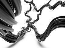 Pacote de cabos elétricos na perspectiva Imagem de Stock