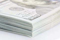 Pacote de cem dólares de cédulas Foto de Stock
