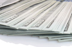 Pacote de cem dólares de cédulas Foto de Stock Royalty Free