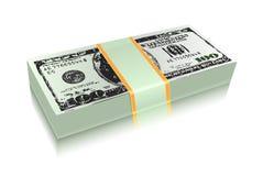 Pacote de conta de dinheiro do dólar Imagem de Stock