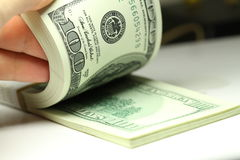 Pacote de dólares Fotos de Stock Royalty Free