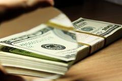 Pacote de dólares Fotografia de Stock