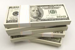 Pacote de nota do dólar Imagens de Stock Royalty Free