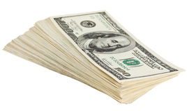 Pacote de notas de banco do dólar Imagem de Stock