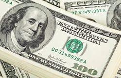 Pacote de notas de banco do dólar Fotos de Stock Royalty Free