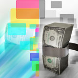 Pacote de notas do dólar Fotos de Stock Royalty Free