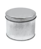 Pacote de prata do produto do projeto de Tin Can Fotografia de Stock Royalty Free
