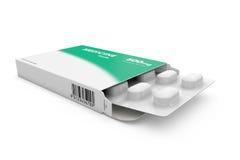 Pacote de tabuletas da medicina Fotografia de Stock