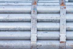 Pacote de tubulação de aço galvanizada fotografia de stock