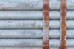 Pacote de tubulação de aço galvanizada fotografia de stock royalty free
